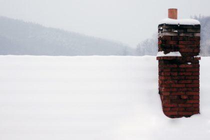 winter chimney